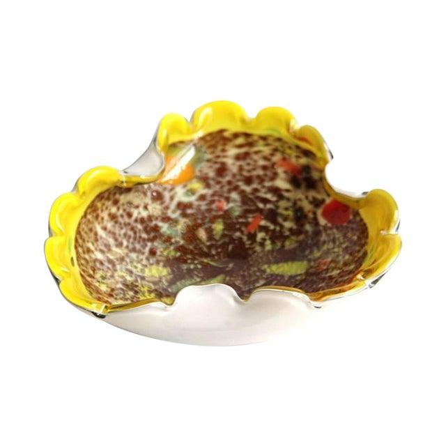 Murano Italian Yellow Glass Bowl Seguso Era - Image 1 of 4