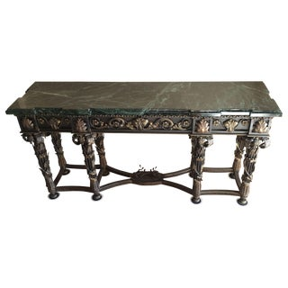 Wrought Iron Console With Bronze Details