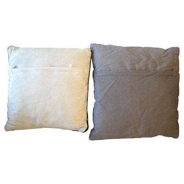 Vintage Kilim Accent Pillows - A Pair - Image 4 of 5