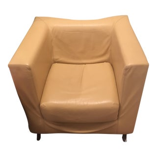 Felice Rossi & Co.Italian Leather Cube Chair