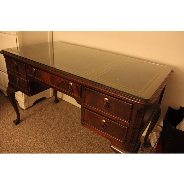Antique Traditional Wool Writing Desk - Image 7 of 9