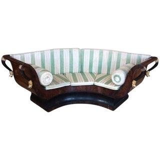 Sublime Empire Walnut Curvy Antique French Sofa