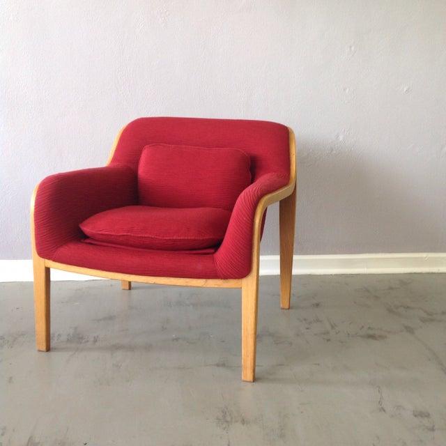 Knoll Red Lounge Chair Chairish