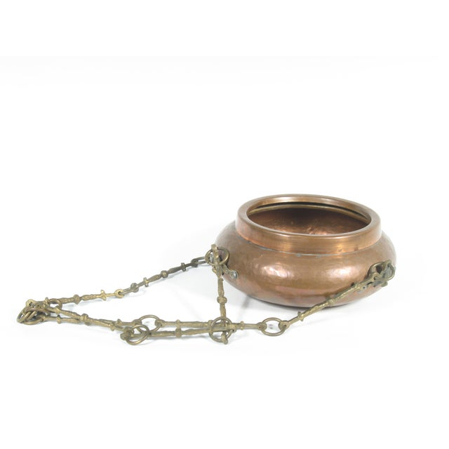 Image of Copper and Brass Hanging Planter