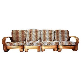 Art Deco 4-Bank Bamboo Sectional
