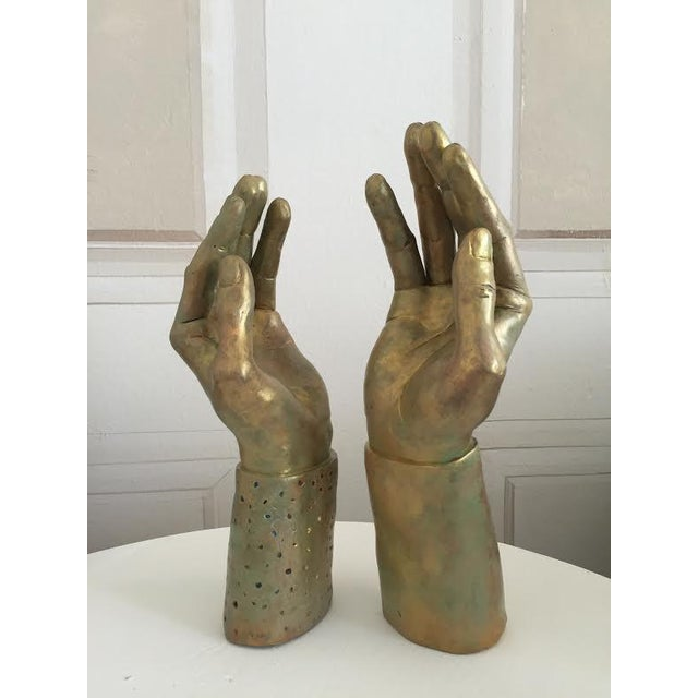 Sculptural Hand-Made Hands - Pair - Image 2 of 9