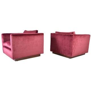 Milo Baughman for Thayer Coggin Cube Chairs - A Pair