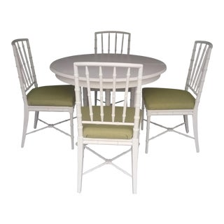 Drexel Faux Bamboo Chinese Chippendale Dining Set
