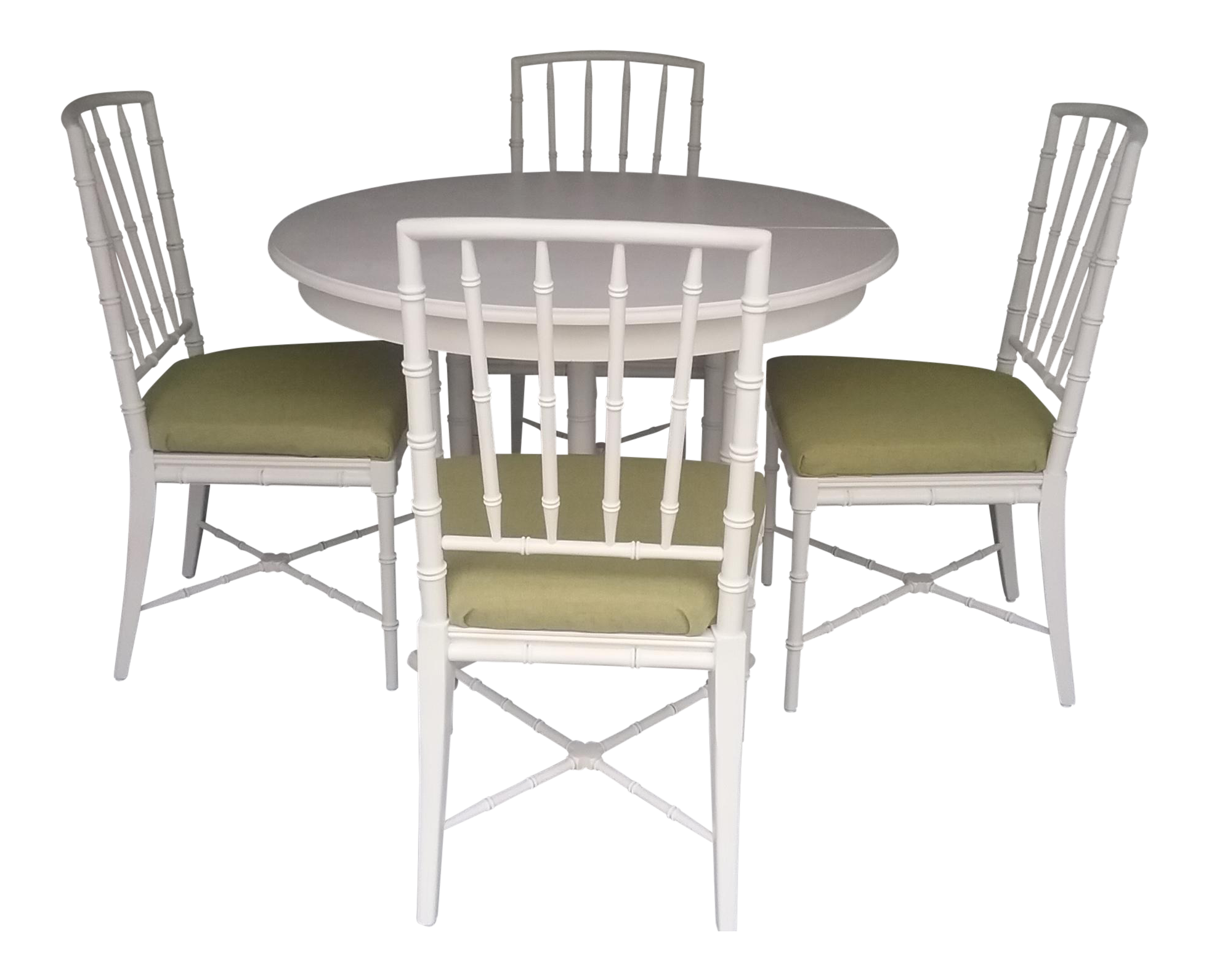 Drexel Faux Bamboo Chinese Chippendale Dining Set   Image 1 Of 9