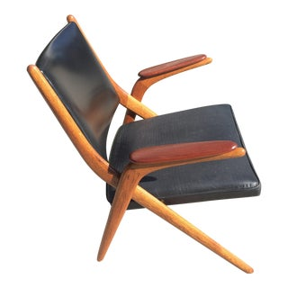 Danish Mid Century Modern Teak Scissor Chair