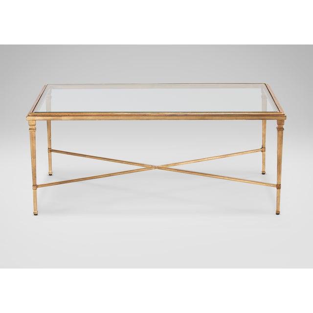 Image of Modern Golden Glass Table