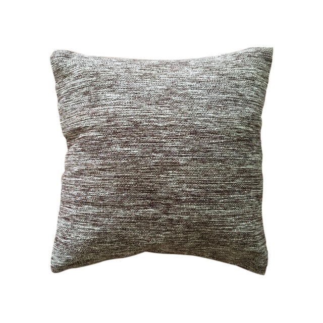 Handwoven Wool Accent Pillow - Image 1 of 4