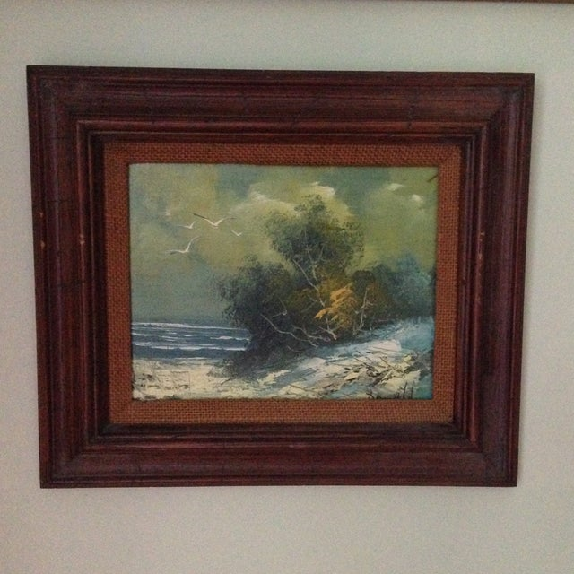Vintage Oil on Board Seascape Painting - Image 2 of 11