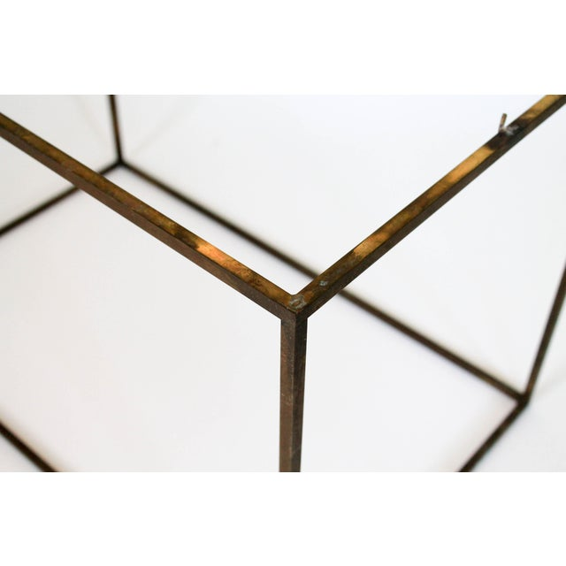 Rectangular Brass & Travertine Table - Image 10 of 11