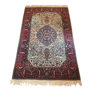 Silk and Wool Rug - 4′8″ × 7′10″