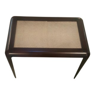 1940s Style Faux Shagreen Top Occasional Table