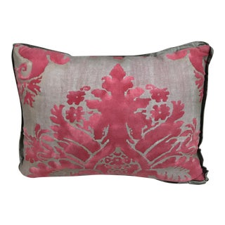 Fortuny Pink & Metallic Gold Pillow