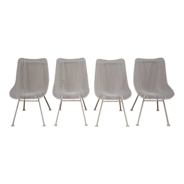 Russell Woodard 'Sculptura' White Patio Dining Chairs- Set of 4 - Image 1 of 7