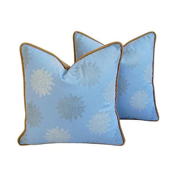 Image of Designer Iman Lamu Twilight Aegean Pillows - Pair