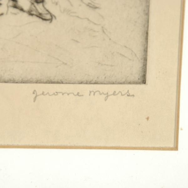 Image of Jerome Myers (American, 1867-1940) Signed Etching