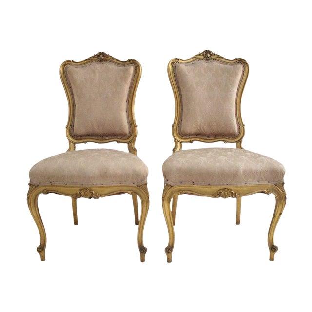 19th Century Louis Xv Blush Parlor Chairs A Pair Chairish