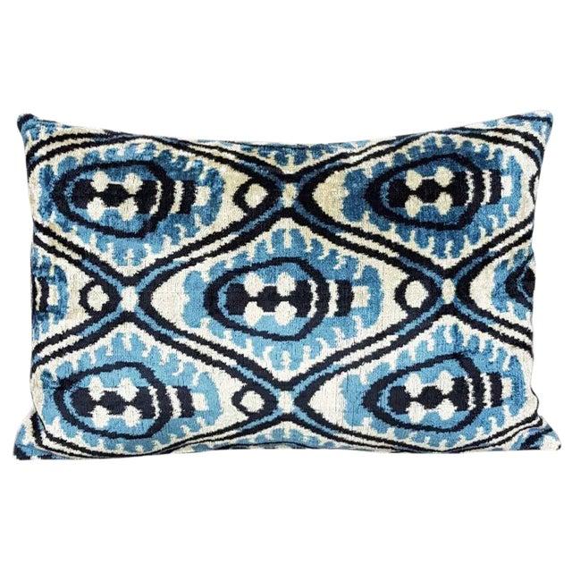 Silk Velvet Ikat Pillow - Image 1 of 2