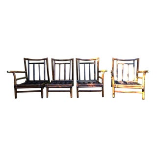 Vintage Bamboo Couch & Chairs - Set of 4