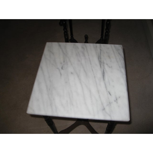 Marble Top Side Tables - A Pair - Image 3 of 4