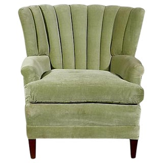 Mid-Century Channel-Back Lounge Chair