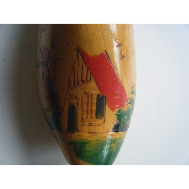 Vintage Hand-Painted Dutch Shoe Clog - Image 3 of 5