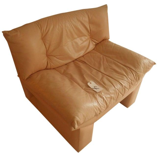 Oriental Gondola Style Salmon Leather Chair - Image 1 of 4