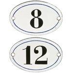 Image of Vintage French Enamel Hotel Room Numbers - Pair