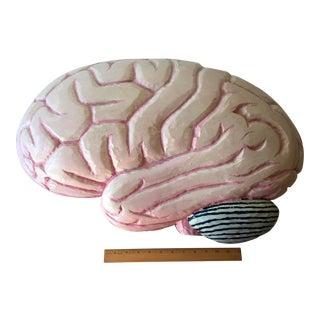 Vintage Carved Wood Brain Sculpture