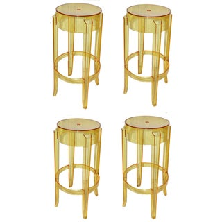 "Vintage P. Starck Model ""Ghost"" Stools -- Set of 4"