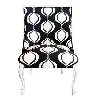 Vintage Black & White Slipper Chair