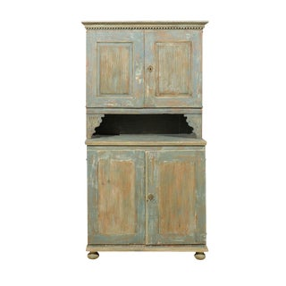 18th Century Swedish Late Gustavian Wood Cabinet with Original Paint
