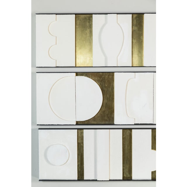 Art Wall Sculpture Panels Triptych by Paul Marra - Image 6 of 8