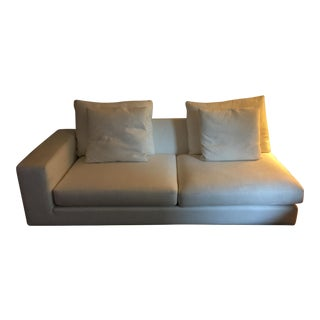 HD Buttercup White Linen Couch