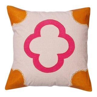 "Piper Collection Shades of Pink Linen ""Emily"" Pillow"
