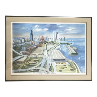 Chicago Watercolor Landscape by Kay Smith