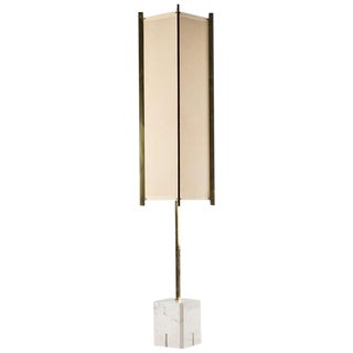 Metal and marble floor lamp by Ignazio Gardella