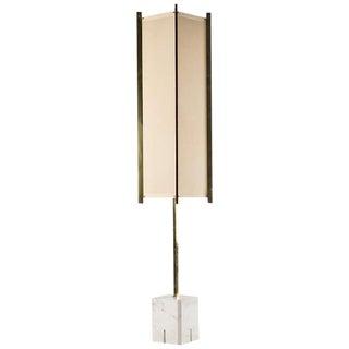 Metal and marble floor lamp by Ignazio Gardella_SALE PRICE $7800