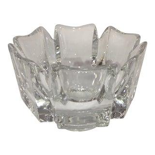 Orrefors Swedish Signed Crystal Dish