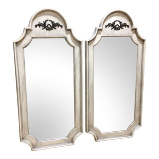 Painted Rustic Wall Mirrors - A Pair