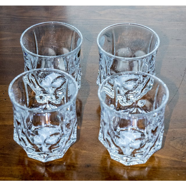 Image of Double Czech Crystal Glasses - Set of 4