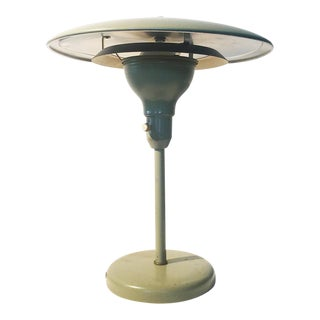 Mid-Century Flying Saucer Table Lamp