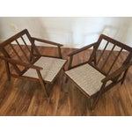 Image of Mid Century Walnut Lounge Chairs - Pair