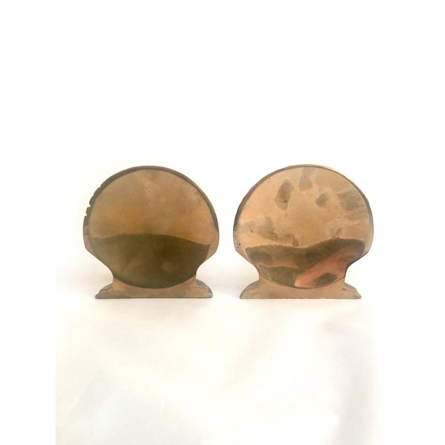 Brass Shell Bookends - Pair - Image 4 of 6