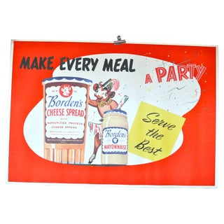 Vintage Borden's Cheese Spread Poster