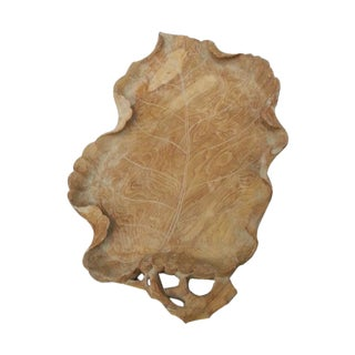 Wooden Leaf Shape Tray